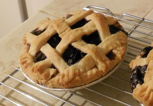 blueberry cardamom pie