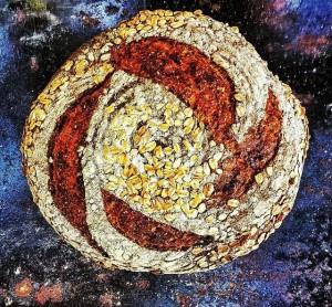 oat + mesquite syrup sourdough bread