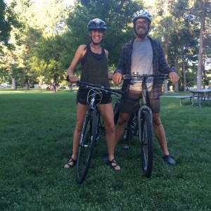 katie visco and henley phillips on bikes, hot love soup delivery, bone broth austin texas, bone broth, bone broth boosters, bike across asia, bike across europe, cyclists austin